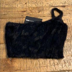 Furry fuzzy crop top